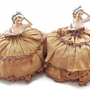 Pair of Vintage Pincushion Dolls with Bodies