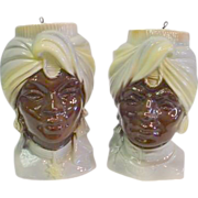 Royal Copley Blackamoor Wallpockets - Man and Woman