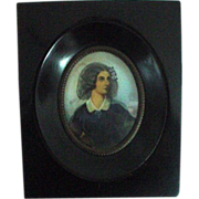 Handpainted Framed Portrait Miniature