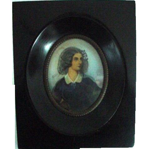 Handpainted Framed Portrait Miniature