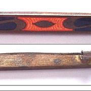 Antique Enamel Bar Pin