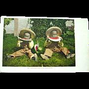 Photo Postcard of Black Boys Eating Watermelon Mitchell Publisher