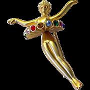 Harrice Miller Ballerina Dancer Pin Brooch