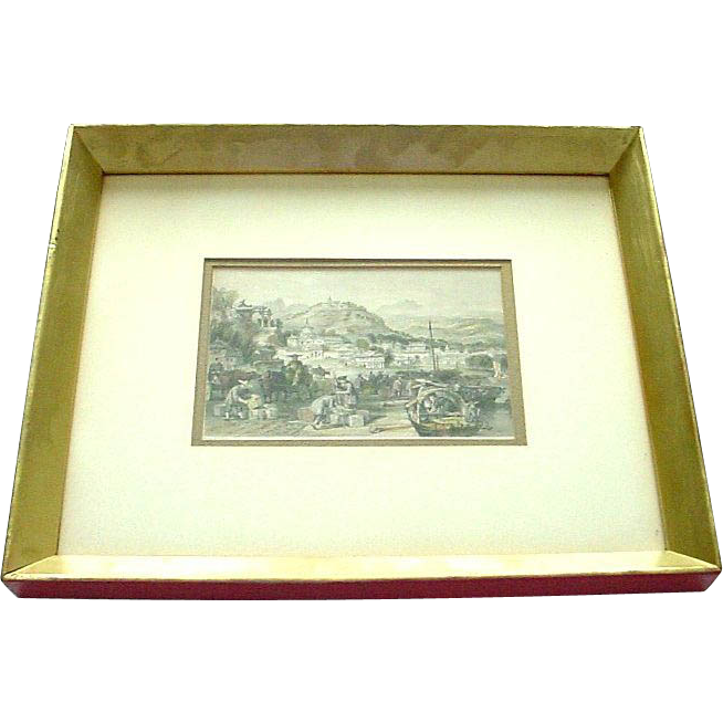 T.Allom 19th C. Tinted Engraving from China Illustrated