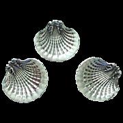 Sterling Silver Figural Angels on Shell Open Salt