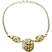 SALE Golden Rhinestones in Goldtone Chain
