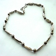 SALE Fabulous Sterling Silver Necklace