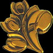 Matisse Copper Tulip Pin
