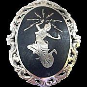 Vintage Sterling Siam Pin