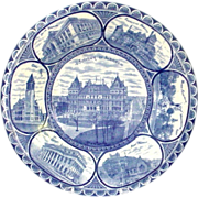 Antique Rowland and Marsellus Staffordshire England Albany NY Souvenir Plate