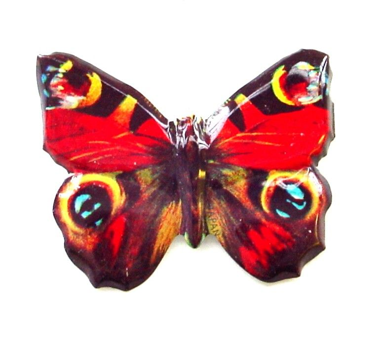 Tin Lithograph Butterfly Pin