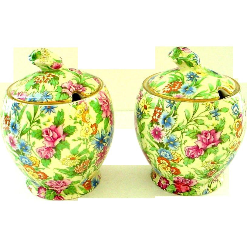 Royal Winton Grimwades Chintz Kew Pattern Jam or Jelly Jar