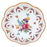Schumann Bavaria Pierced Floral Charger or Cake Plate