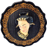 Mid-century 1950s Kitsch Wall Plaque - Very 3D