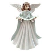 Lladro Angel Tree Topper with Scroll of Music