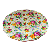 Rose Decorated Royal Albert Rose Chintz Salad Plate