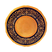 Fabulous Cobalt and Gold Encrusted Plate