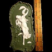 """11 1/2"""" Volkstedt Art Nouveau Plaque in Excellent Condition"""