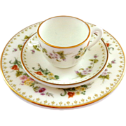 Wedgwood Mirabelle Miniature Trio - Cup, Saucer, and Plate