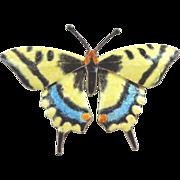 Enamel on Sterling Silver Swallowtail Butterfly