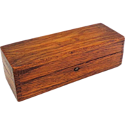 Lovely Antique Oak Treen Box