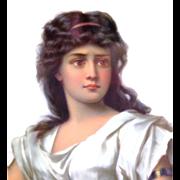 Antique KPM Germany Hand Painted Plaque of Medea - Greek Mythologogical Figure
