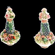 Antique Meissen Marked Flower Encrusted Perfume Scent Bottle