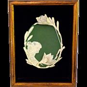 Framed Jasperware Jasper Ware Art Nouveau Plaque S&V