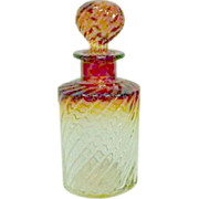 """Baccarat 8 1/2"""" Rose Tiente Scent or Perfume Bottle"""