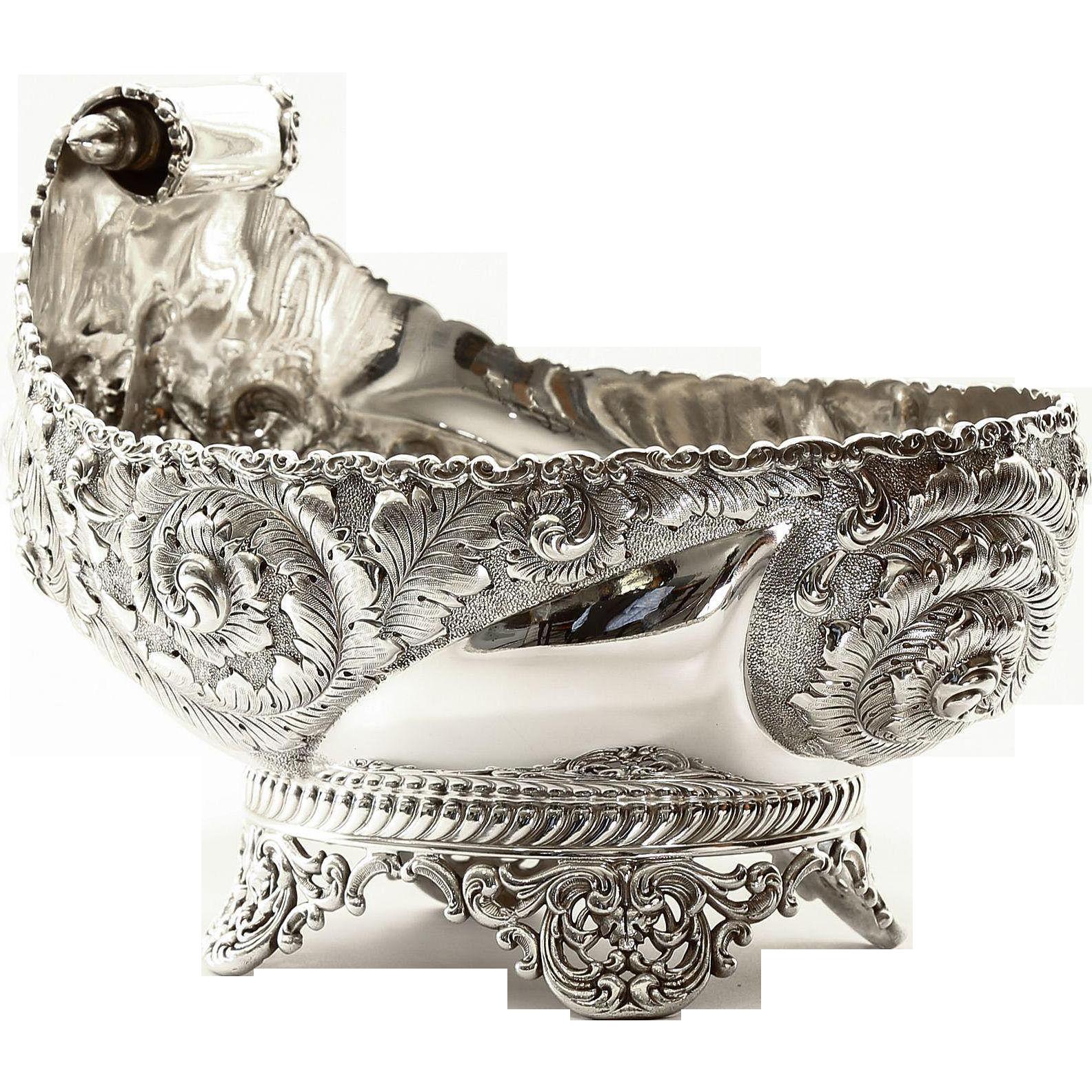 Magnificent Circa 1890 Victorian Silver Bowl Sgn. Wilcox