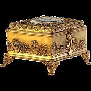 Circa 1890 Art Nouveau Portrait Jewel Box