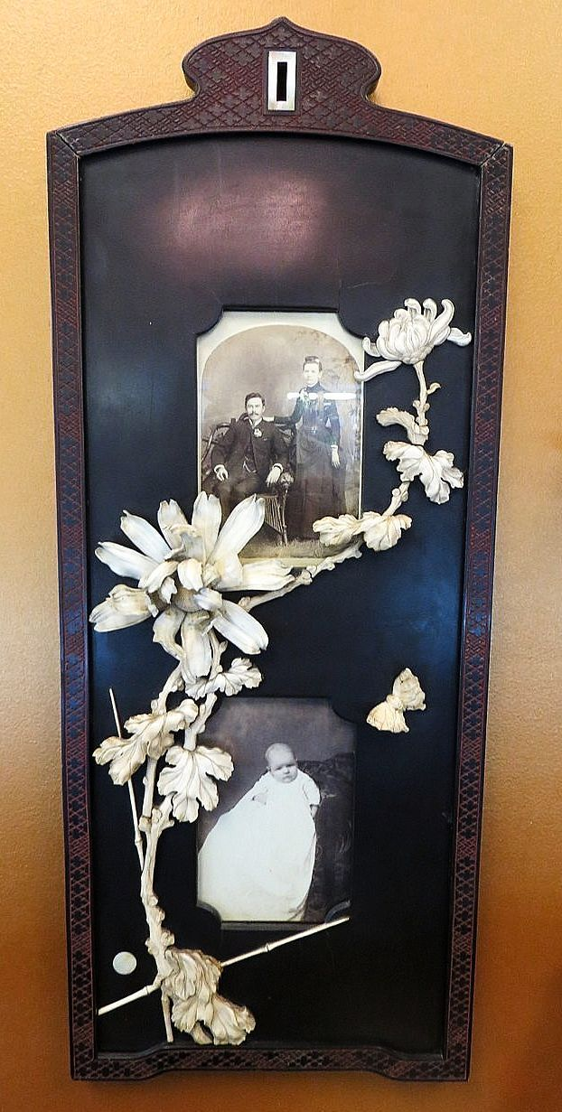 Magnificent 19th Century Japanese Carved Bone Picture Frame