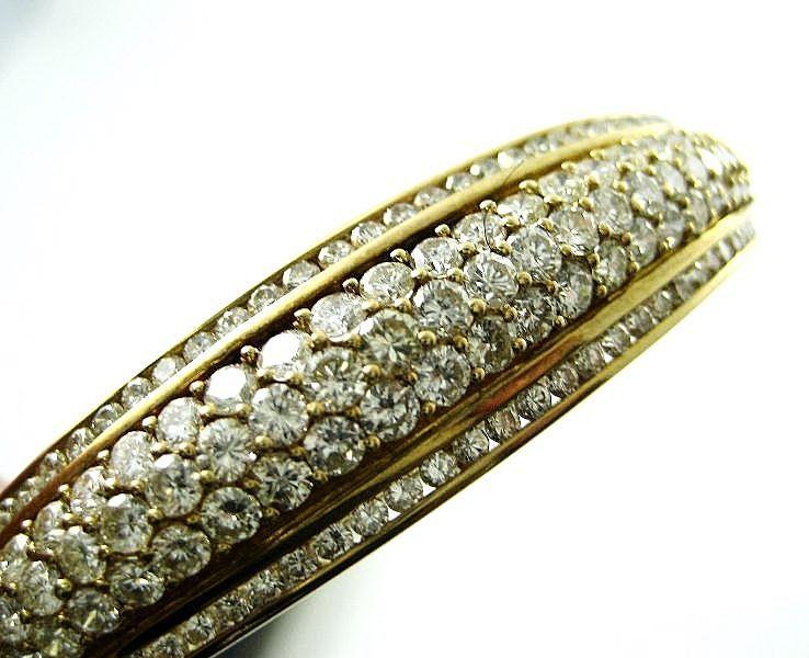 Spectacular 5 Ct. Diamond 18k Bangle Bracelet