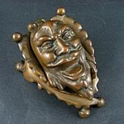 Victorian Era Ornate Bronze Gargoyle Inkwell