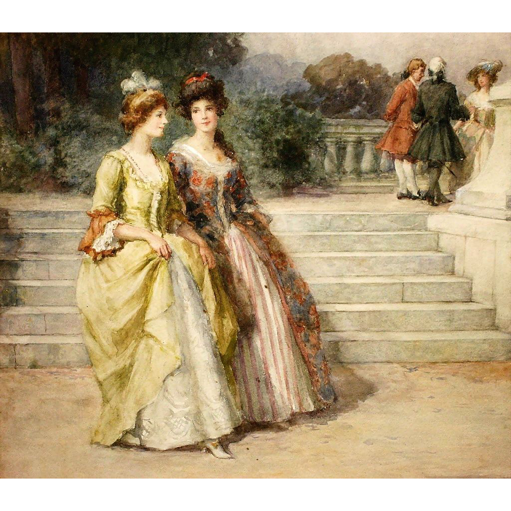 Important Watercolor By George Sheridan Knowles, 1863-1931