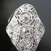 Antique Lady's Platinum Edwardian Diamond Ring