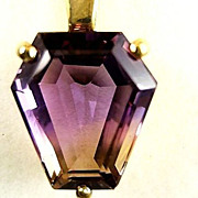 Lady's 14k  Ametrine  Pendant With 14k Chain