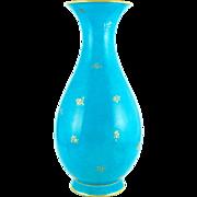 Monumental Antique 19thc French Sevres Porcelain Turquoise Blue Vase