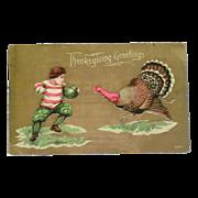 Thanksgiving Greetings 1909 Postcard