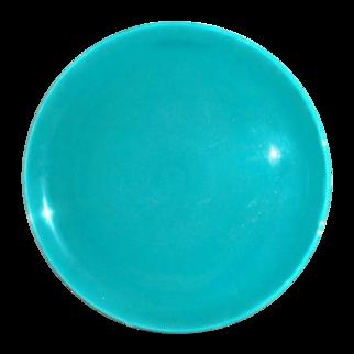 Metlox Poppytrail Turquoise Round Stoneware Platter - Marked