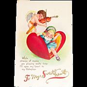Vintage Valentine Postcard - To My Sweetheart