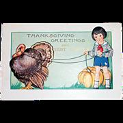 Whitney: Thanksgiving Greetings Postcard - Marked