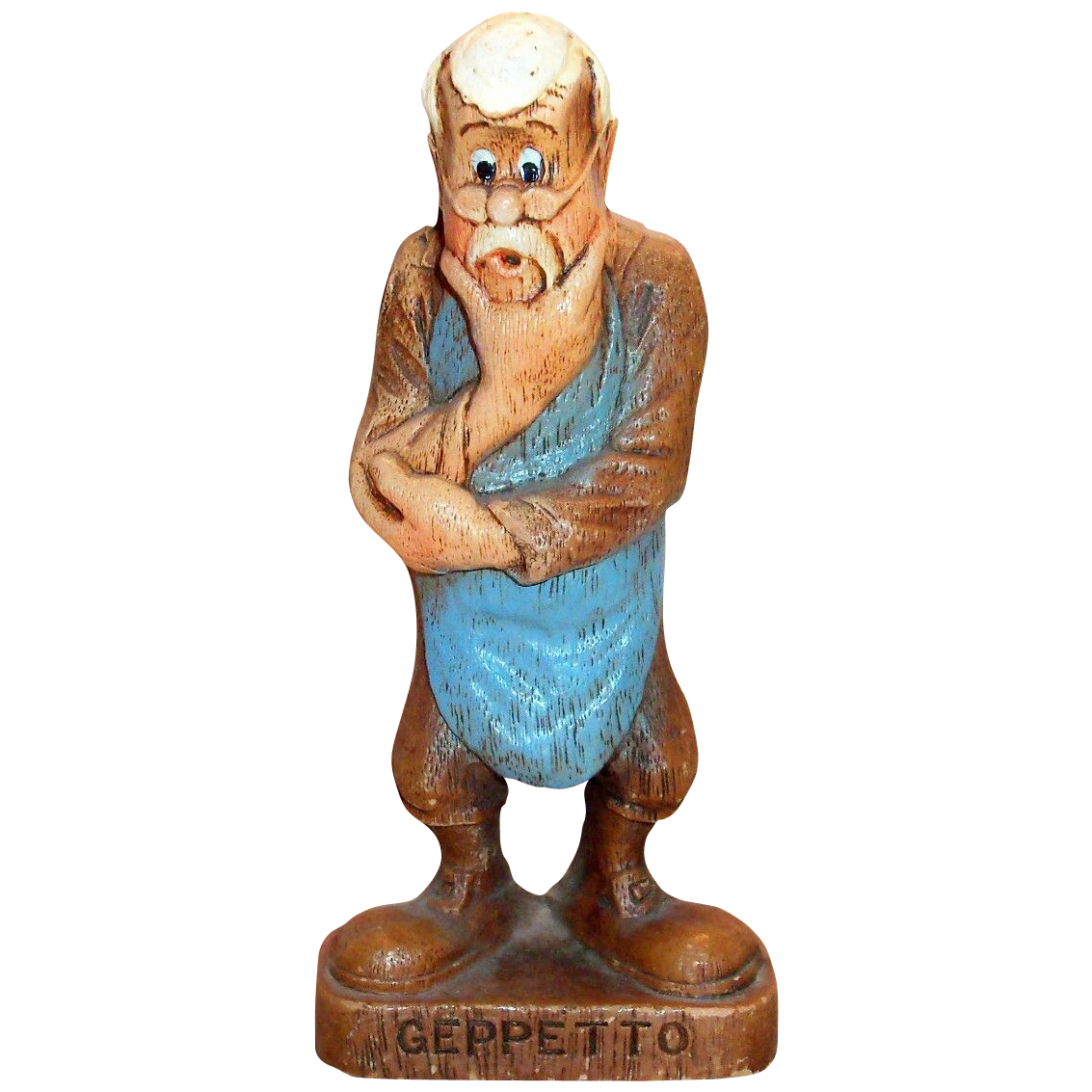 Multi Products Disney Handpainted Syroco Wood Composition Geppetto Character Figurine - Marked