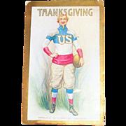 "Uncle Sam ""World's 20th Century Champion"" Thanksgiving Postcard"