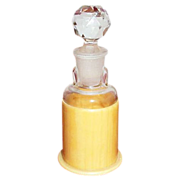 Glass Perfume Bottle in a Celluloid Holder/Stand