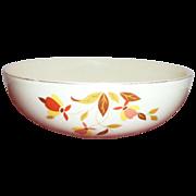 """Hall: Autumn Leaf (Jewel Tea) 9"""" Rd.Porcelain Serving Bowl - Marked"""