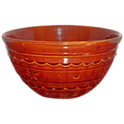 """Mar-Crest Oven Proof Stoneware Dot & Daisy 8""""Rd Bowl - Marked"""
