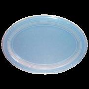 SALE Vernonware: Modern California Azure Blue Oval Stoneware Platter - Marked