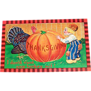 "Thanksgiving: I Don'd Vant Any Turkey, Nit!"" Postcard"