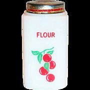 Tipp Novelty Co.: Cherries Design Flour Shaker - Marked